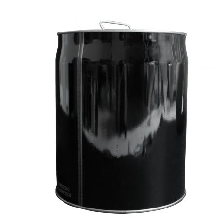 Five Gallon Metal Pail Back View