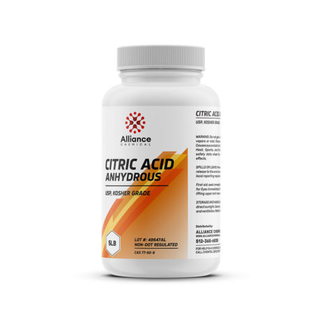 Citric Acid Anhydrous 5lb Can