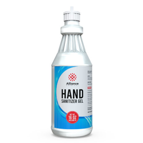 Hand Sanitizer in a quart bottle with squirt cap