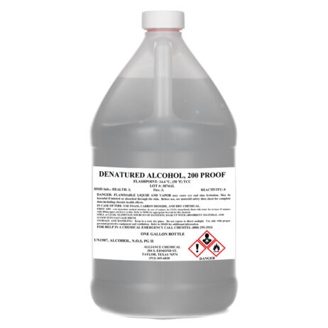 Denatured Alcohol 200 Proof One Gallon Poly Bottle