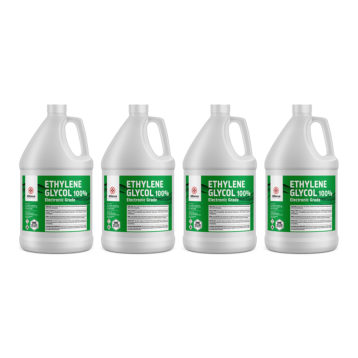 Ethylene Glycol in 4 individual gallon bottles