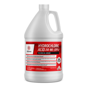 Hydrochloric Acid 20 Be in a gallon bottle