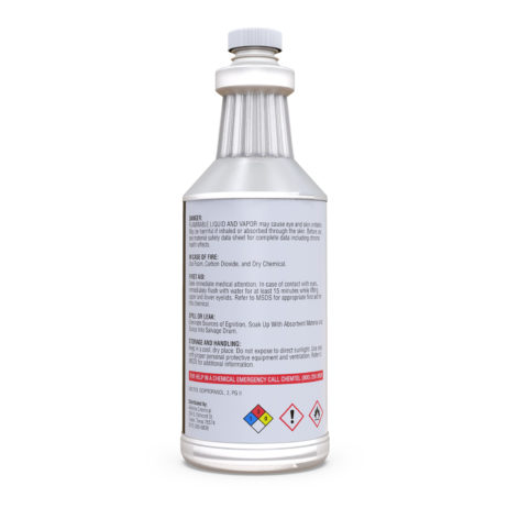 Isopropyl Alcohol 99% Technical in a quart bottle back view
