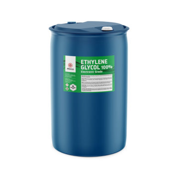 Ethylene Glycol 100% Electronic Grade in a 55 gallon drum