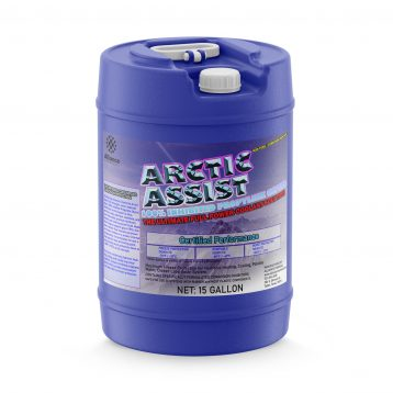 Introducing Alliance Chemical's Artic Assist, full strength, never watered down, 100% inhibited Propylene Glycol Antifreeze. Arctic Assist is ethanol-free, safe, odorless, tasteless, and non-flammable premium hyrdronic heating and cooling system fluid. Made from virgin propylene glycol (PG), this heat transfer fluid contains premium corrosion inhibitors to protect internal components. It's formulated to have a high specific heat and boiling point, and provides burst protection down to -100ºF (-73ºC) at full strength.